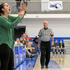 Nashoba Regional High School beat Groton Dunstable Regional High School on Saturday, March 9, 2019 during the Girls Division II Championship game at Worcester State University. NRHS's coach Christina Seabury calls a timeout from the sidelines during action in the game. SENTINEL & ENTERPISE/JOHN LOVE