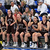 Nashoba Regional High School beat Groton Dunstable Regional High School on Saturday, March 9, 2019 during the Girls Division II Championship game at Worcester State University. GDRHS players cheer form the bench. SENTINEL & ENTERPISE/JOHN LOVE
