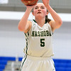 Nashoba Regional High School beat Groton Dunstable Regional High School on Saturday, March 9, 2019 during the Girls Division II Championship game at Worcester State University. NRHS's Alexis Richard shoots a foul shot.  SENTINEL & ENTERPISE/JOHN LOVE