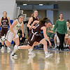 Nashoba Regional High School beat Groton Dunstable Regional High School on Saturday, March 9, 2019 during the Girls Division II Championship game at Worcester State University. GDRHS's Emma Wilson takes off after a loose ball. SENTINEL & ENTERPISE/JOHN LOVE