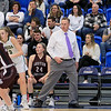 Nashoba Regional High School beat Groton Dunstable Regional High School on Saturday, March 9, 2019 during the Girls Division II Championship game at Worcester State University. GDRHS's coach Mark Hennelly paces on the sidelines. SENTINEL & ENTERPISE/JOHN LOVE