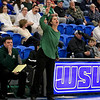 Nashoba Regional High School beat Groton Dunstable Regional High School on Saturday, March 9, 2019 during the Girls Division II Championship game at Worcester State University. NRHS's coach Christina Seabury calls instructions from the sidelines during action in the game. SENTINEL & ENTERPISE/JOHN LOVE