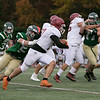 Nashoba Regional High School played Fitchburg High School on Friday afternoon in Bolton. NRHS's #5 Nick Romasco tries to stop FHS's #7 Anthony Oquendo. SENTINEL & ENTERPRISE/JOHN LOVE
