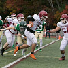 Nashoba Regional High School played Fitchburg High School on Friday afternoon in Bolton. FHS's ##7 Anthony Oquendo scores a touchdown. SENTINEL & ENTERPRISE/JOHN LOVE