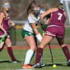 Nashoba Regional High School field hockey played Algonquin Regional High School on Saturday, Nov. 9, 2019 for the Central Mass. Division 1 championship. NRHS's #4 Abigail Zacchini and ARHS's #7 Alexandria Moll.  SENTINEL & ENTERPRISE/JOHN LOVE