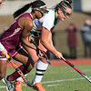 Nashoba Regional High School field hockey played Algonquin Regional High School on Saturday, Nov. 9, 2019 for the Central Mass. Division 1 championship. ARHS's #11 Dajiana Ruffo and NRHS's #24 Gillian Fay. SENTINEL & ENTERPRISE/JOHN LOVE
