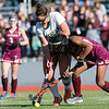 Nashoba Regional High School field hockey played Algonquin Regional High School on Saturday, Nov. 9, 2019 for the Central Mass. Division 1 championship. NRHS's #24 gillian Fay and ARHS's #11 Dajiana Ruffo. SENTINEL & ENTERPRISE/JOHN LOVE
