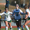 Nashoba Regional High School field hockey played Algonquin Regional High School on Saturday, Nov. 9, 2019 for the Central Mass. Division 1 championship. NRHS players celebrate a goal. SENTINEL & ENTERPRISE/JOHN LOVE