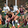 Nashoba Regional High School field hockey played Algonquin Regional High School on Saturday, Nov. 9, 2019 for the Central Mass. Division 1 championship. NRHS's #24 Gillian Fay and ARHS's #2 Bryn Coghlin. SENTINEL & ENTERPRISE/JOHN LOVE