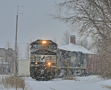 Canadian National #529, St-Jean-sur-Richelieu,Quebec, February 11 2017.