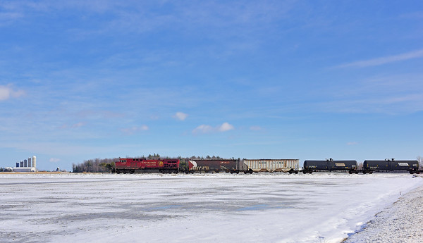 Canadian Pacific #651, Lacolle, Quebec, February 9  2017.
