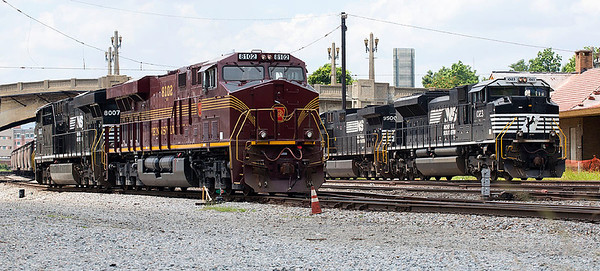 Pennsylvania RR Heritage motor NS 8102 in the South Yard Roanoke,VA.