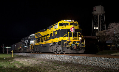 Virginian RR Heritage motor NS 1069 on the point of a southbound coal train rolling thru Landis,NC.