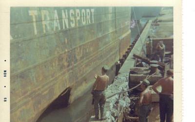 Barge got sunk,ChuLai,1967  NAVSUPPACT
