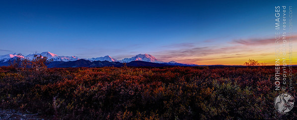 Mt McKinley and the Alaska Range at Sunset. COPYRIGHT NORTHERN SOURCE IMAGES © 2013