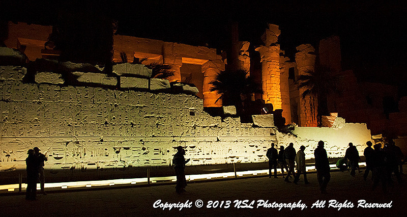 Karnak Temple Complex, Luxor Egypt, at night