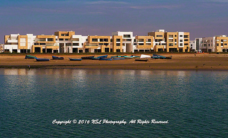New apartment complex along the Bou Regreg River across from the medina and Kasbah in Rabat-Sale, Morocco.