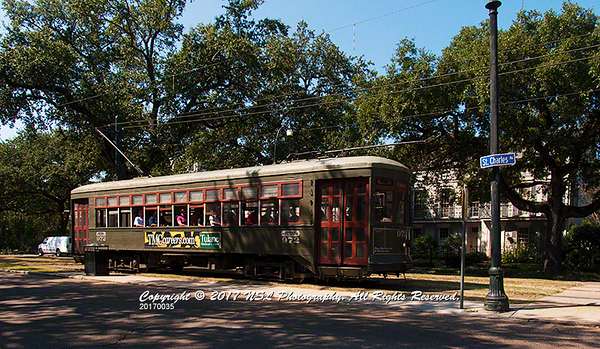 The St. Charles Avenue Trolley, New Orleans, LA - Garden District