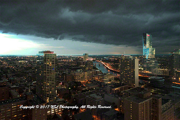 Storm charging into Center-City Philadelphia.