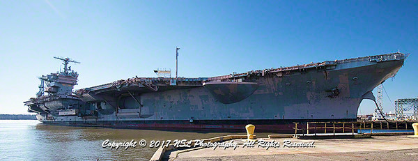 USS John F. Kennedy (CV-67) at the at the Naval Inactive Ship Maintenance Facility at the Philadelphia Navy Yard