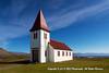 "The Hellnakirkja Church at Hellnar Snaefellsnes, built in 1943-45, a ""Cave Church."""