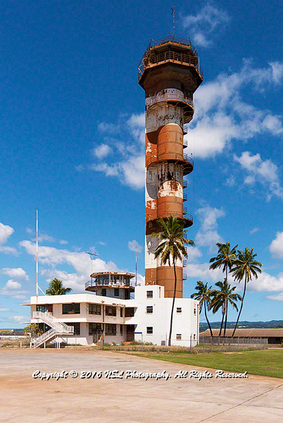 Ford Island Naval Air Station Control Tower which witnessed December 7, 1941 attack on the Naval Station Pearl Harbor, Hawaii, by the Empire of Japan.