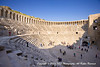 The Aspendos Roman Theater. It has a diameter of 315 ft, with seating for 7,000. The theater was built in 155 by the Greek architect, Zenon, a native of Aspendos (Turkey), during the rule of Marcus Aurelius.