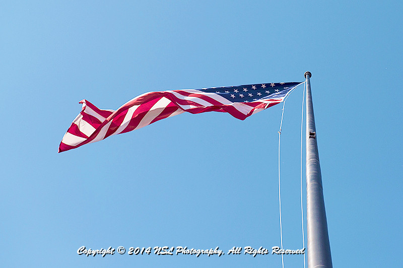 The main American Flag on Liberty Island