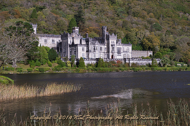 Kylemore Abbey, a Benedictine monastery founded in 1920 on the grounds of Kylemore Castle, in Connemara, County Galway, Ireland