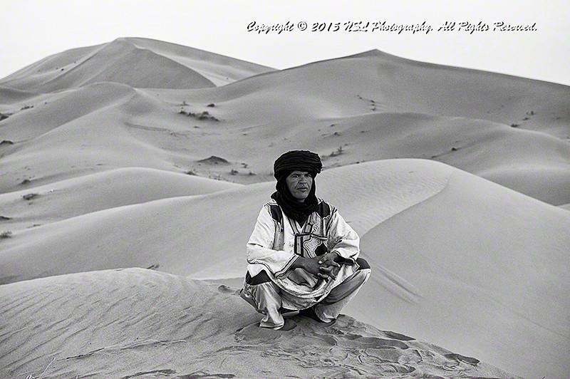 Sahara Desert south of the Village of Tisserdmine, Morocco.