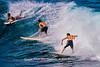 Surfing at Ho'okipa Beach Park, Maui, Hawaii