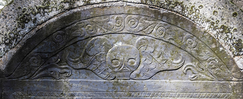 Winged skull: Detail of previous post