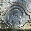 Detail of previous post: A beautiful Portait Stone of Miss Elizabeth Morton. Note the neck-chained locket ~