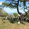 Plymouth, Burial Hill with view of Plymouth harbor ~