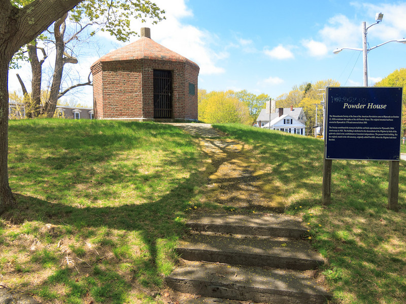 Replica of the Old Powder House utop Burial Hill