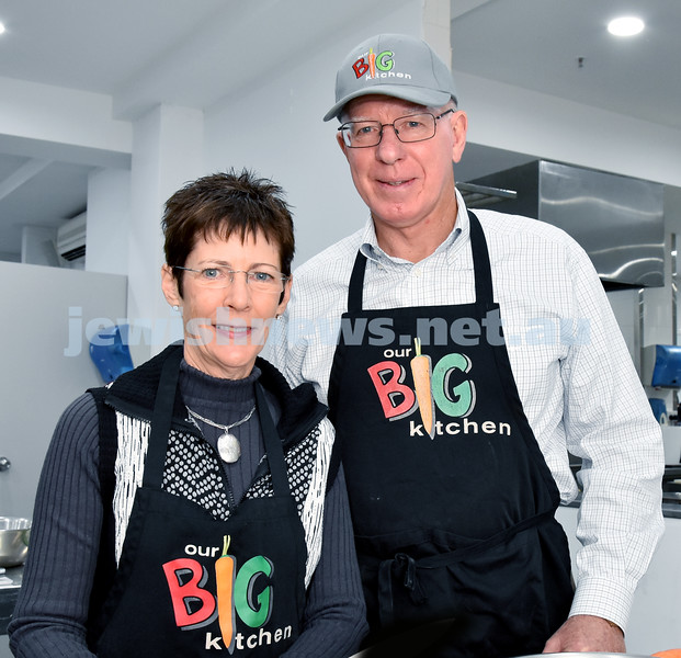 Morning of Giving at OBK. Linda and David Hurley. Pic Noel Kessel