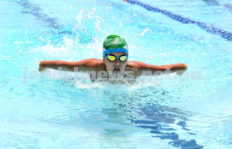 Maccabi Jewish Swimming Championships. Boys 50m Butterfly. Pic Noel Kessel.