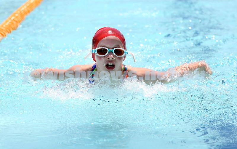Maccabi Jewish Swimming Championships.Girls 50m Butterfly. Pic Noel Kessel.