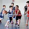 Maccabi vs Bronte Bulls U8 Basketball. Sam Greenberg with the ball.