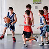 Maccabi vs Bronte Bulls U8 Basketball. Adiel Goldberg with the ball