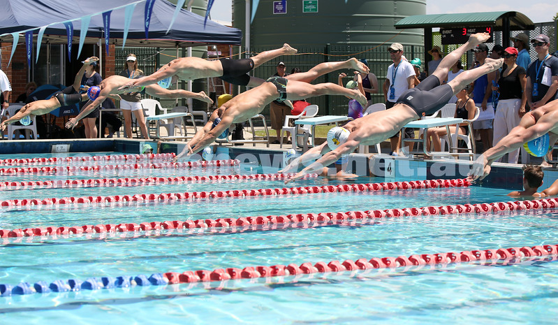 Jewish Swimming Championships held at Des Renford Pool in Maroubra. 100m open freestyle race.