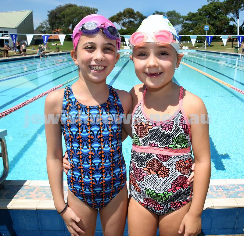Jewish Swimming Championships held at Des Renford Pool in Maroubra. Taya Simmons & Maya Antonir.