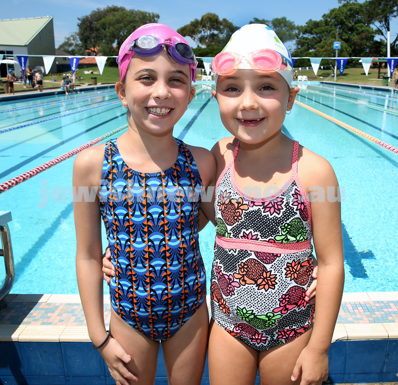 Jewish Swimming Championships held at Des Renford Pool in Maroubra. Taya Simmons & Maya Antonir.