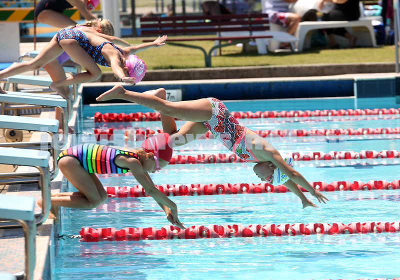 Jewish Swimming Championships held at Des Renford Pool in Maroubra. Maya Antonir takes the lead with a great dive.
