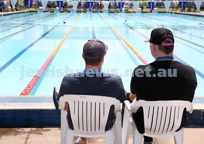 Jewish Swimming Championships held at Des Renford Pool in Maroubra. timekeepers.