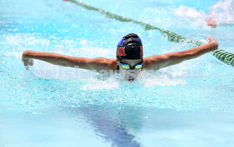 Jewish Swimming Championships held at Des Renford Pool in Maroubra. Maya Murphy in the 50m Butterfly.