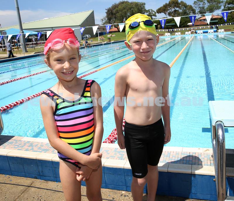 Jewish Swimming Championships held at Des Renford Pool in Maroubra. Jordi Hayim & Noah Teitler.
