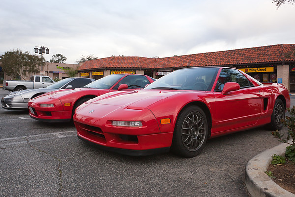 When I arrive at the Sunland meeting location, I find Glen's (Gansan) Zanardi Edition NSX in the parking lot...funny because there were no Zanardis at NSXPO.  Bryana (ByziNSX) parks her NSX on the other side of mine.