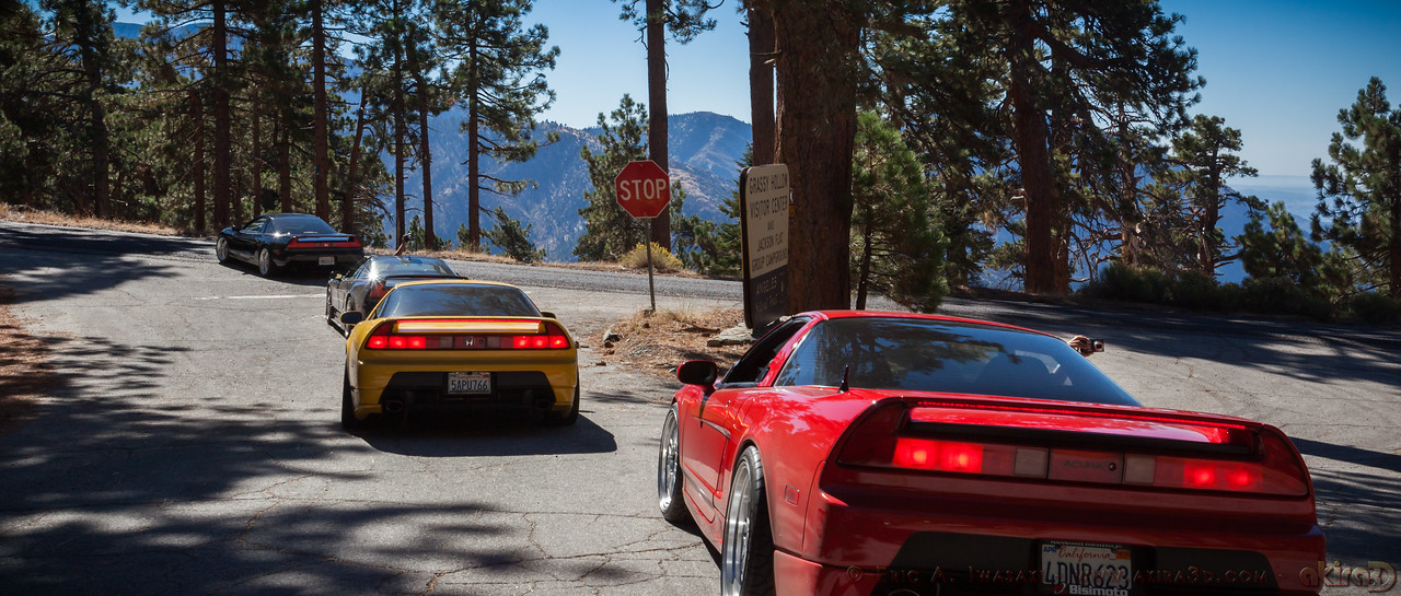 Turning east on Angeles Crest Highway