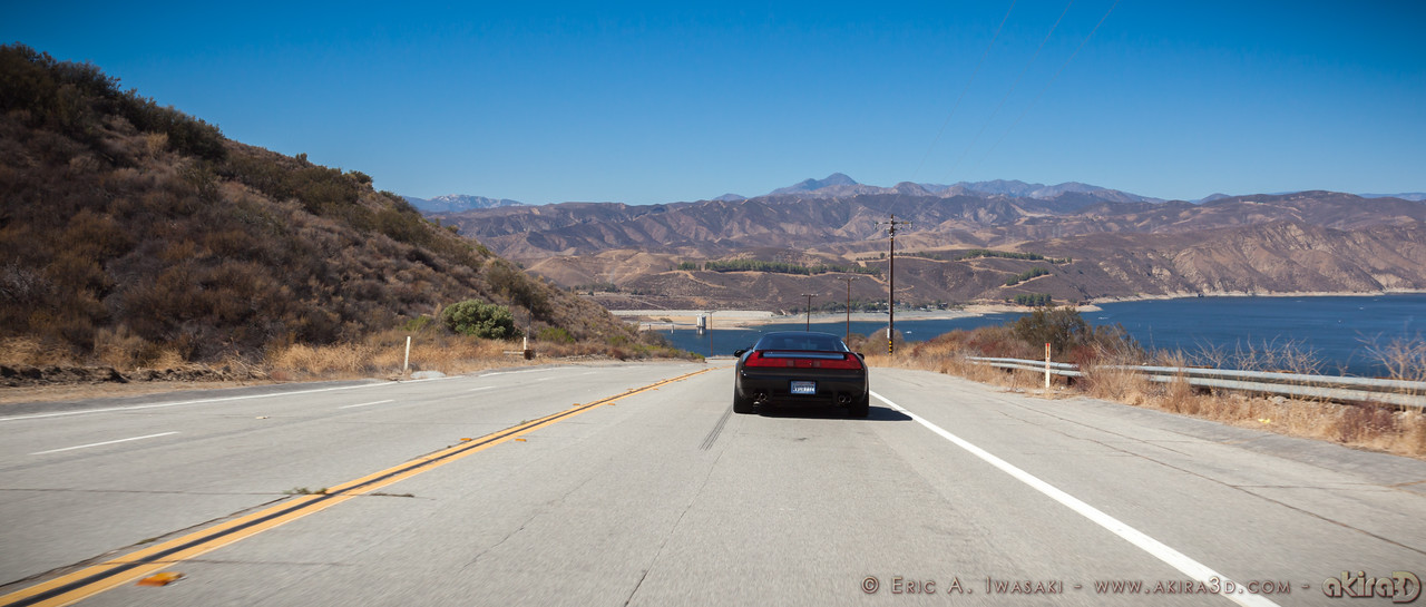 Descending towards Lake Castaic on Lake Hughes Road